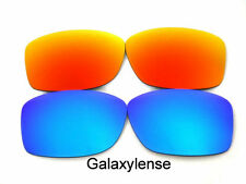 Galaxy Replacement Lenses For Oakley Big Taco Blue&Red Polarized 2Pairs