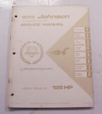 Service manual for 125 HP Johnson outboard motor 1972