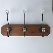 Wall Coat Rack Vintage Style 6 Hooks Wood And Iron