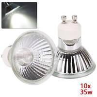 10x Halogen Leuchtmittel GU10 ALU Qualitäts Reflektor wahlweise 35W Leuchtmittel
