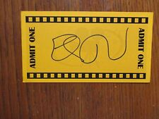 """ELI ROTH (Hostel/Inglorious Bastards/Hostel:Part II) Signed  3"""" x 5"""" Orange Card"""