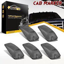 5PCS Cab Marker Clearance Light Smoke Covers For Chevrolet GMC K1500 K2500 K3500