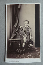 Photo Par Cliche Reims Cdv Carte de Visite Enfant Vers 1860