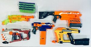 NERF Blaster Lot STRYFE ELITE + N-Strike Gun & Darts FREE SHIPPING Clip Magazine