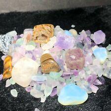 89G Gravel Mineral Crystal Quartz Polishing Specimen Gravel Reiki Healing Q54