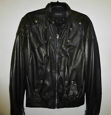 MENS GUCCI BLACK LEATHER JACKET SIZE 48 IT / UK 38