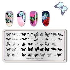 BORN PRETTY Nail Art Stamp Template Overprint-L003  Stamping Stencil
