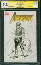 Sgt. Rock CGC 9.4 SS Sam Glanzman Original art Sketch 2011 Avengers 2018 Movie