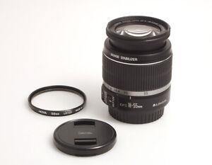 Canon EFS 18-55mm 1:3.5-5.6 IS für Canon EOS mit APS-C Sensor inkl. Hoya UV 58mm