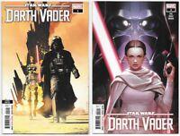 Star Wars Darth Vader #1 2nd print & #2 NM- 2020 Marvel Comics 1st App Zed Sabe