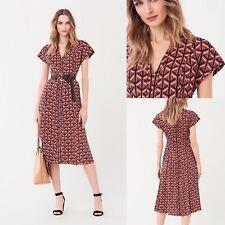 £479 Diane Von Furstenberg Dress, DVF Davina Silk Dress, Size 12 UK, New 70% off
