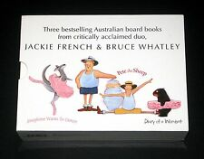 Jackie French: Diary of Wombat, Pete the Sheep + Joesphine Board Book Set x 3 EC
