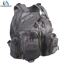 Fly Fishing Mesh Vest Adjustable Mutil-Pocket Outdoor Sport Backpack