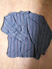 Little Kathmadu Shirt Hemd Gestreift M - L (GOA VINTAGE RETRO HIPPIE 70er)