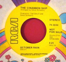 CINAMMON SHIP October Rain RCA PROMO SUNSHINE POP 45-74-0308 w COMPANY SLEEVE