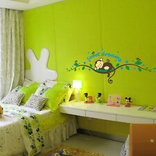 SCIMMIA ALBERO RAMO kids Room Murale Muro Arte Adesivo Decalcomania Decorazione Casa UK