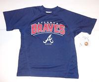 Genuine Merchandise Atlanta Braves Baseball BOYS top Jersey NWT
