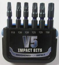 V5 Impact Punte Torx T15 T20 T25 T30 50 MM Set 6 Pezzi Makita Dewalt Bosch