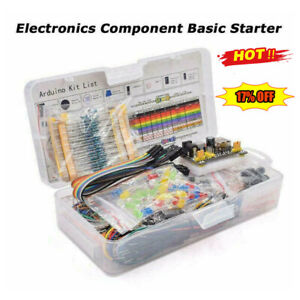 Electronic Component Starter Kit Wires Breadboard Buzzer LED Transistor