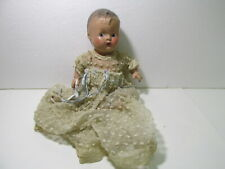 """Vintage Composition 9"""" Sitting Down Doll With Flowing Gown t5134"""