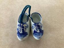 Ceramic Dutch Holland Windmill Wooden Clogs Shoes Decorative Sovenir Ornament