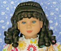 Kemper ANNELISE Dk. Brown Full Cap Doll Wig Size14-15  Braid, Ringlets, Long