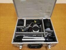 De Colección cámara Nikon F 65, X 2 Lente. Trípode, Flash Y Estuche. Perfecto para aficionados!