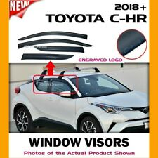 WINDOW VISORS for Toyota 18 19 20 21 C-HR CHR / DEFLECTOR RAIN GUARD VENT