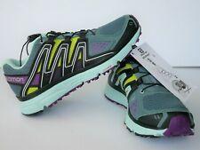 Salomon Womens X-Mission 3 W Trail Running Shoe 5 Eggshell Blue/Grape Juice NEW