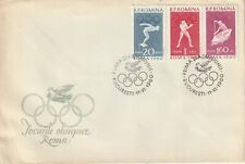 1960 Romania FDC cover Olympic Games Roma (set 2 covers)