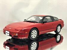 Otto Mobile Ottomobile Nissan 180SX S13 Fastback Super Red Resin Model Car 1:18