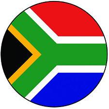 """SUD AFRICA-SUD AFRICA Bandiera ROUND 8"""" facile PRETAGLIATO GLASSA cake topper"""