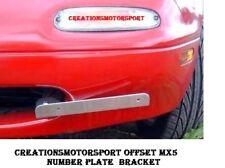 Mazda MX5 Eunos MK1 MK2 89-00 OFFSETT FRONT JDM Number Plate bracket relocation