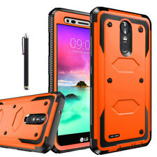 LG Stylo 3 / Plus Shockproof Impact Hybrid Armor Rubber Rugged Case Phone Cover