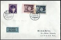 Czechoslovakia 1947 Youth Meeting Prague Airmail FDC Brno to London