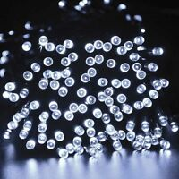 Solar Power 50 LED Party Xmas String Fairy Light Outdoor Garden Tree Lamp White