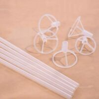 70cm White Balloon Sticks Plastic Holder with Cup Access Wedding Party Decor 5Pc