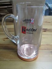 Ketel One Vodka Summer Glass Pitcher With Copper Base! Brand New! Rare! Promo!