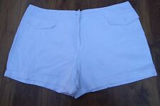 Next Ladies Shorts Size Waist 40 White Summer Casual Smart Holiday