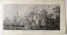 Eau-forte, James Cook débarque à Middelburgh, Bénard