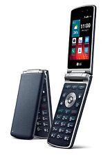 "New Unlocked LG Wine Smart 2 H410 1G/4G 4GLTE 3.2"" Flip Phone - Blue- Fedex Ship"