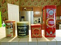 Vintage Advertising Tins Collectible - Baby Ruth, Morton's Salt, more *LOT OF 4*