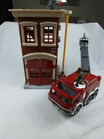 Fisher Price Imaginext Fire Station and Fire Truck with Figures