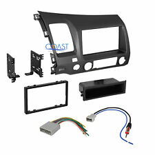 Car Radio Stereo Single Din Dash Kit Harness Antenna for 2006-2011 Honda Civic