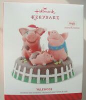 HALLMARK KEEPSAKE CHRISTMAS ORNAMENT - Yule Hogs - Pigs singing Jingle Bells