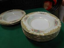 "Magnificent NORITAKE ""Occupied Japan"" M China- Set of 5 SOUP Bowls & 2 FREE"