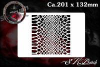 Schlangenhaut Airbrush Schablone Effekt Struktur FX - Snake Skin Stencil