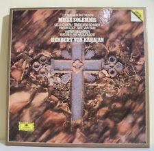 Coffret 2 x 33T BEETHOVEN H. Von KARAJAN Disques LP MISSA SOLEMNIS - DEUTSCHE G