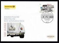 BRD 2006 Deutsche Post FDC MiNr. 2551   einheitliche deutsche Kfz-Kennzeichen