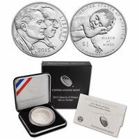 2015 March of Dimes US Mint Commemorative Proof Silver Dollar Original Box & COA